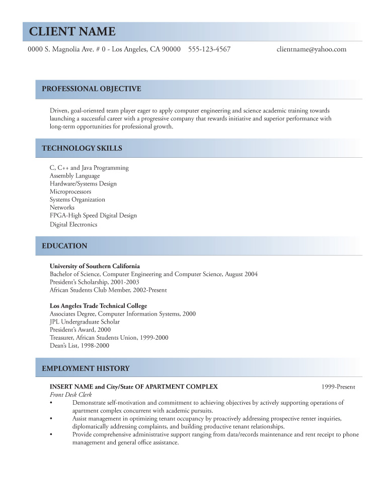 sample resume c